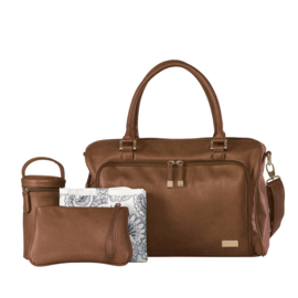 Isoki - Double Zip Satchel Redwood Chestnut