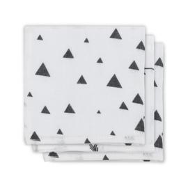 Jollein - Monddoekje hydrofiel Indians black & white (3pack)