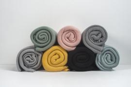 Jollein - Deken  Basic knit black