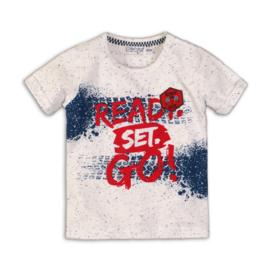 Dirkje t-shirt white melee, blue