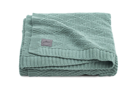 Jollein - Deken- River knit ash green