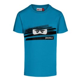 Lego Wear - Blauwe T-shirt, Lego Ninjago ogen