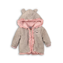 Dirkje baby jas roze/beige - So soft outside