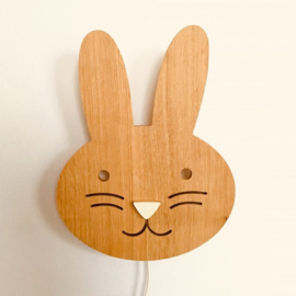 Wandlamp konijn snuffie, LED lamp