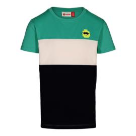 Lego Wear - T-shirt Green Melange, lego hoofdje
