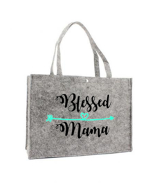 Vilten shoppingtas ♥ Blessed mama