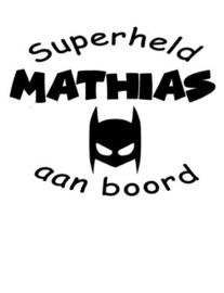 "Autosticker ""superheld"""