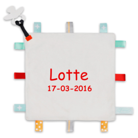 Label speendoekje ♥ naam + geboortedatum