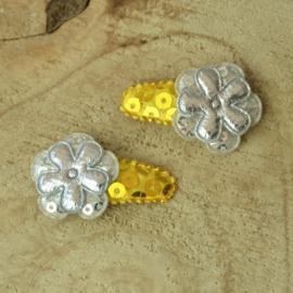 Haarknipje ♥ glitter goud & zilver