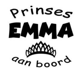 "Autosticker ""prinses"""