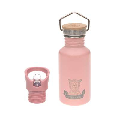 Lässig - drinkfles roestvrij staal, Adventure pink