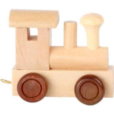 Lettertrein - locomotief blanco