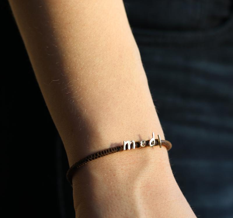 Armband Initials zilver