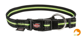 Halsband Fusion, S-M, Zwart-Groen
