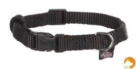 Classic nylon halsband XS-S, zwart