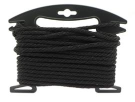 12mm touw PPM, rond, zwart