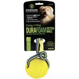 Durafoam bal geel medium 7cm + koord, Starmark