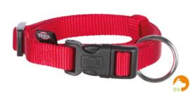 Classic nylon halsband S-M, rood