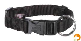 Classic nylon halsband S-M, zwart