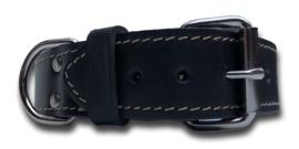 Lederen halsband 45mm met D-ring, 60cm