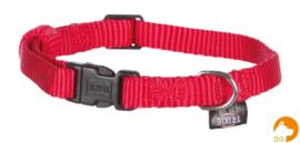 Classic nylon halsband XS-S, rood