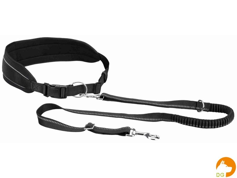 Heupriem met lijn voor middelgrote en grote honden 75-120cm