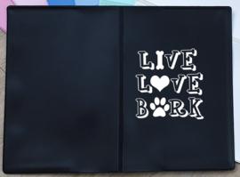 Paspoorthoesje 'Live love bark'