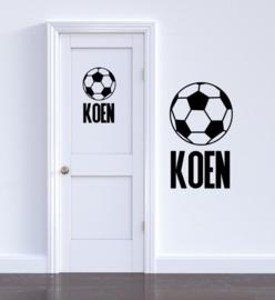 Deursticker voetbal