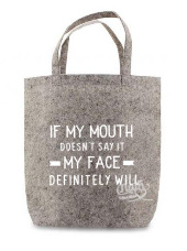 If my mouth doesn't say it....