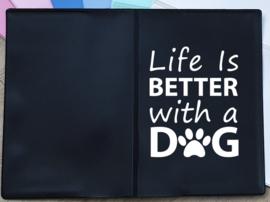 Paspoorthoesje 'Life is better'