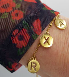 Letter-Armband ( RVS)