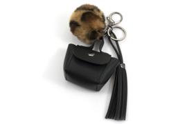 Sleutel-/tassenhanger tasje met Camel pompon