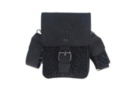 Zwart telefoon-en schoudertasje San Remo