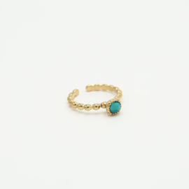 Ring Turquoise/gold