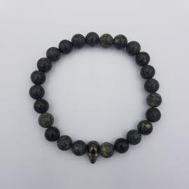 Armband Skull, Green Curb Stones