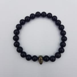 Armband Skull, Agate Black