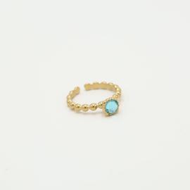 Ring Aqua marine /gold
