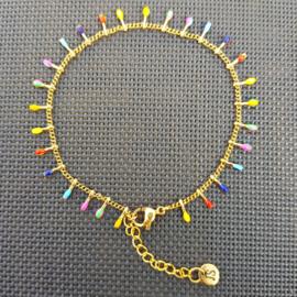 Armband SPIKE (RVS) goud