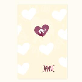 Geboortekaartje: Janne