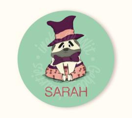 Ronde sticker Sarah