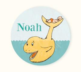 Ronde sticker Noah