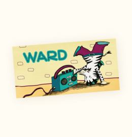 Rechte sticker Ward