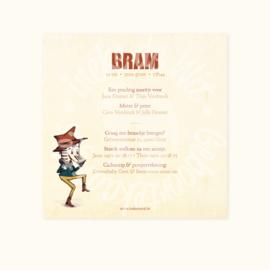 Geboortekaartje: Bram