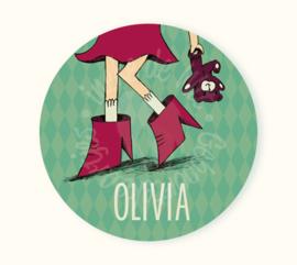 Ronde sticker Olivia