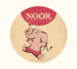Ronde sticker Noor