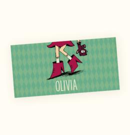 Rechte sticker Olivia