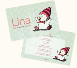 Geboortekaartje: Lina