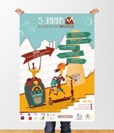 Affiche & flyers: Buurtsport Brugge