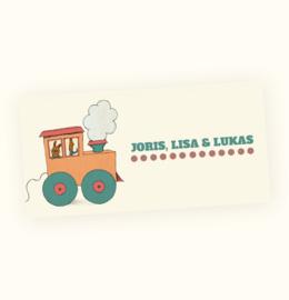Rechte sticker Joris, Lisa & Lukas