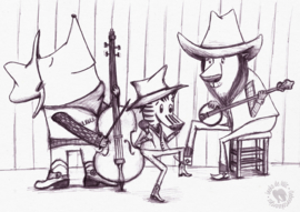 Schets: country band!